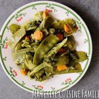 Poêlée pois gourmands, brocolis, carottes
