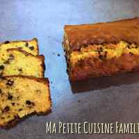 Cake vanille, coco, pépites de chocolat.