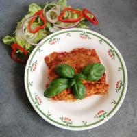 Cannellonis au chorizo, poivron, fromage ail et fines herbes