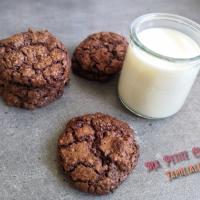 Cookies tout choco, noisettes et noix de coco râpée