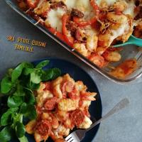 Gratin de gnocchis au chorizo et poivrons