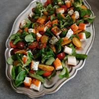 Salade de mâche et surimi
